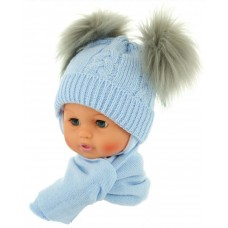 Czapeczka zimowa niemowlęca 38-40 niebieska